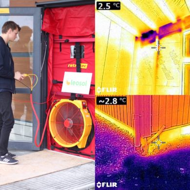 Täthetsprovning gör nya hus energieffektiva!