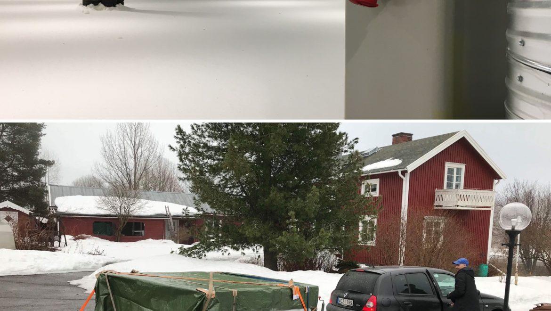 Endast timmar från att hämta snö i Finland!