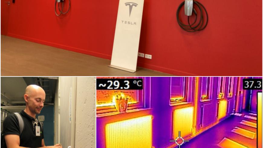 Energikartläggningar vid Teslas butiker…………………….
